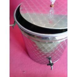 fermentatore fondo piatto 30 litri